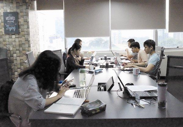 Một không gian làm việc chung tại TPHCM. Ảnh: Hà Nam