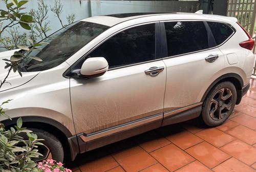 Chiếc Honda CR-V của anh Hoàng Đăng Tùng gặp sự cố khóa cứng phanh